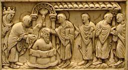 Baptême de Clovis. Source : http://data.abuledu.org/URI/50734a9a-bapteme-de-clovis