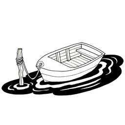Barque amarrée à un poteau. Source : http://data.abuledu.org/URI/52d48a86-barque-amarree-a-un-poteau