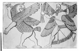 Bas-relief assyrien. Source : http://data.abuledu.org/URI/591baaaf-bas-relief-assyrien