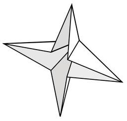 Base de la bombe à eau en origami. Source : http://data.abuledu.org/URI/518fee68-base-de-la-bombe-a-eau-en-origami