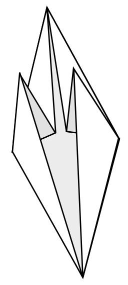 Base du poisson en origami. Source : http://data.abuledu.org/URI/52f280bf-base-du-poisson-en-origami