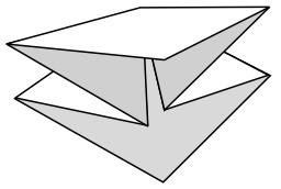 Base préliminaire en origami. Source : http://data.abuledu.org/URI/518fedd7-base-preliminaire-en-origami