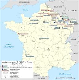 Bases de l'OTAN en France. Source : http://data.abuledu.org/URI/50789577-bases-de-l-otan-en-france