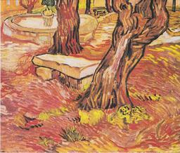 Bassin et banc de pierre dans le jardin de l'hôpital Saint-Paul. Source : http://data.abuledu.org/URI/53160e81-bassin-et-banc-de-pierre-dans-le-jardin-de-l-hopital-saint-paul