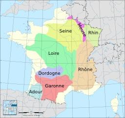 Basssins versants des fleuves de France. Source : http://data.abuledu.org/URI/5276a0eb-basssins-versants-des-fleuves-de-france
