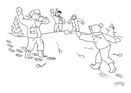 Bataille de boules de neige. Source : http://data.abuledu.org/URI/50250c44-bataille-de-boules-de-neige