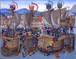 Bataille de l'écluse. Source : http://data.abuledu.org/URI/5060f020-bataille-de-l-ecluse