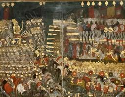 Bataille de Mohács entre ottomans et hongrois en 1526. Source : http://data.abuledu.org/URI/530888bd-bataille-de-moh-cs-entre-ottomans-et-hongrois-en-1526