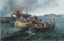 Bataille de Svolder en mer Baltique. Source : http://data.abuledu.org/URI/56571104-bataille-de-svolder-en-mer-batique