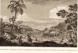 Bataille entre indigènes et marins français dans les îles Samoa en 1797. Source : http://data.abuledu.org/URI/599132a7-bataille-entre-indigenes-et-marins-francais-dans-les-iles-samoa-en-1797