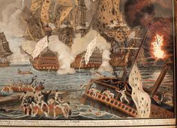 Bataille navale des Saintes en 1782. Source : http://data.abuledu.org/URI/5295db40-bataille-navale-des-saintes-en-1782