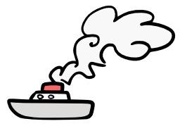 Bateau à cheminée fumante. Source : http://data.abuledu.org/URI/50a2538e-bateau-cheminee-fumante