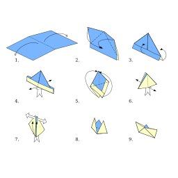 Bateau en origami. Source : http://data.abuledu.org/URI/52f15cf9-bateau-en-origami