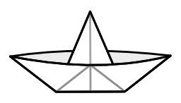 Bateau en papier en origami. Source : http://data.abuledu.org/URI/518ff35f-bateau-en-papier-en-origami