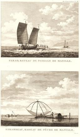 Bateaux de Manille en 1797. Source : http://data.abuledu.org/URI/59912f77-bateaux-de-manille-en-1797