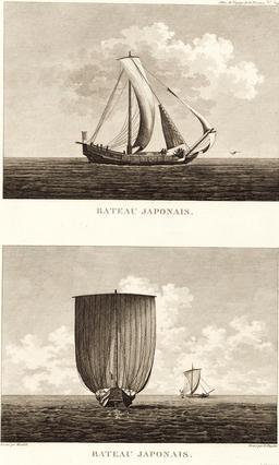 Bateaux japonais en 1797. Source : http://data.abuledu.org/URI/59913000-bateaux-japonais-en-1797