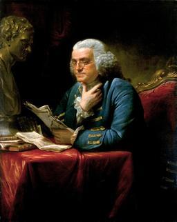 Portrait de Benjamin Franklin en 1767. Source : http://data.abuledu.org/URI/537a0612-benjamin-franklin