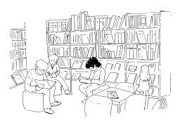 Bibliothèque. Source : http://data.abuledu.org/URI/5025011e-bibliotheque
