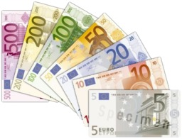 Billets de banques EURO. Source : http://data.abuledu.org/URI/50192cd8-billets-de-banques-euro