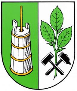 Blason de Bokeloh avec baratte. Source : http://data.abuledu.org/URI/51ddd03e-blason-de-bokeloh-avec-baratte