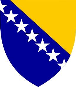 Blason de Bosnie-Herzégovine. Source : http://data.abuledu.org/URI/5379a0cf-blason-de-bosnie-herzegovine