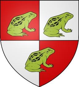 Blason de la ville de Rânes avec trois grenouilles. Source : http://data.abuledu.org/URI/52dedc47-blason-de-la-ville-de-ranes-avec-trois-grenouilles