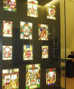 Blasons médiévaux au musée des beaux-arts de Dijon. Source : http://data.abuledu.org/URI/59d69ccb-blasons-medievaux-au-musee-des-beaux-arts-de-dijon
