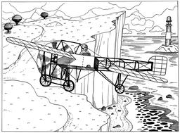 Blériot XI en vol. Source : http://data.abuledu.org/URI/55a183dc-bleriot-xi-en-vol