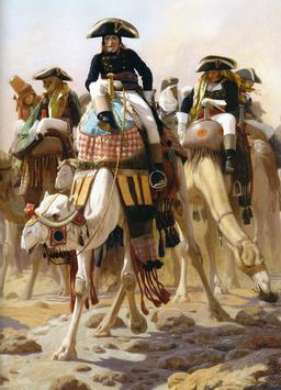 Bonaparte et son Etat-Major en Egypte. Source : http://data.abuledu.org/URI/52ea5ce0-bonaparte-et-son-etat-major-en-egypte
