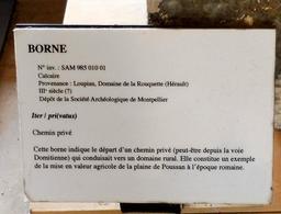 Borne romaine à Lattes. Source : http://data.abuledu.org/URI/58d4ba7a-borne-romaine-a-lattes