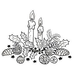 Bougies et décorations de Noël. Source : http://data.abuledu.org/URI/52b4de23-bougies-et-decorations-de-noel