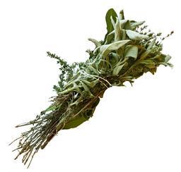 Bouquet garni : thym, laurier et sauge. Source : http://data.abuledu.org/URI/506f27cf-bouquet-garni-thym-laurier-et-sauge