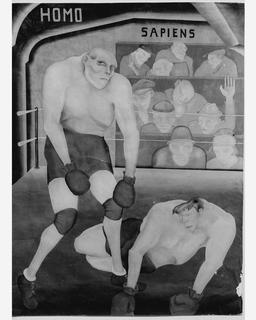 Boxe et Homo Sapiens. Source : http://data.abuledu.org/URI/5388c3ea-boxe-et-homo-sapiens