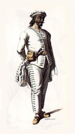 Brighella le valet bouffon vers 1570. Source : http://data.abuledu.org/URI/51c14fe5-brighella-le-valet-bouffon-vers-1570