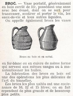 Broc en bois et broc en métal. Source : http://data.abuledu.org/URI/56639687-broc-en-bois-et-broc-en-metal