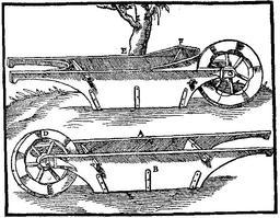 Brouette suspendue du XVIème siècle. Source : http://data.abuledu.org/URI/51de5afe-brouette-suspendue-du-xvieme-siecle