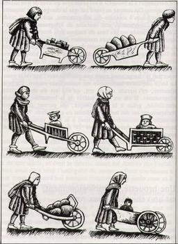 Brouettes médiévales. Source : http://data.abuledu.org/URI/51de587e-brouettes-medievales
