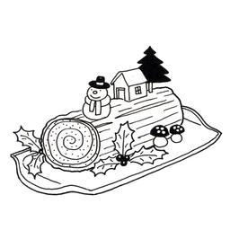 Bûche de Noël décorée. Source : http://data.abuledu.org/URI/52b4dd9e-buche-de-noel-decoree