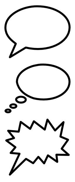 Bulles de bandes dessinées. Source : http://data.abuledu.org/URI/53c6c0fa-bulles-de-bandes-dessinees