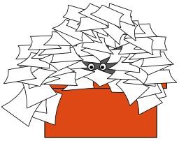 Bureau encombré. Source : http://data.abuledu.org/URI/5047674a-bureau-encombre