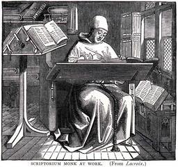 Bureau médiéval. Source : http://data.abuledu.org/URI/5319c59d-bureau-medieval
