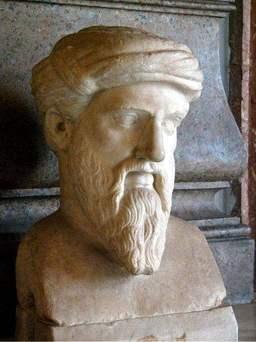 Buste de Pythagore. Source : http://data.abuledu.org/URI/47f387ce-buste-de-pythagore