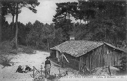 Cabane de résiniers. Source : http://data.abuledu.org/URI/5131f77e-cabane-de-resiniers