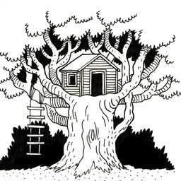Cabane perchée dans un arbre. Source : http://data.abuledu.org/URI/52d49000-cabane-perchee-dans-un-arbre
