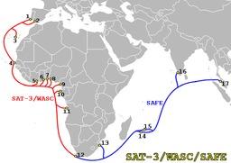 Câble sous-marin en fibre optique. Source : http://data.abuledu.org/URI/50b3dbb9-cable-sous-marin-en-fibre-optique