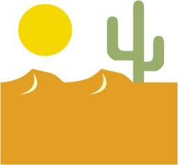 Cactus dans le désert. Source : http://data.abuledu.org/URI/47f505b8-cactus-dans-le-d-sert