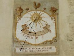 Cadran solaire 1990 avec morale. Source : http://data.abuledu.org/URI/58297b5b-cadran-solaire-1990-avec-morale