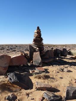 Cairn en Mauritanie. Source : http://data.abuledu.org/URI/50213f29-cairn-en-mauritanie