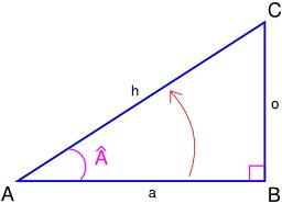 Calcul du Cosinus de l'angle A. Source : http://data.abuledu.org/URI/5309cc44-calcul-du-cosinus-de-l-angle-a