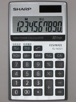 Calculatrice électronique. Source : http://data.abuledu.org/URI/5389a4d5-calculatrice-electronique